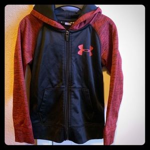 Boys athletic hoodie under armour size 5